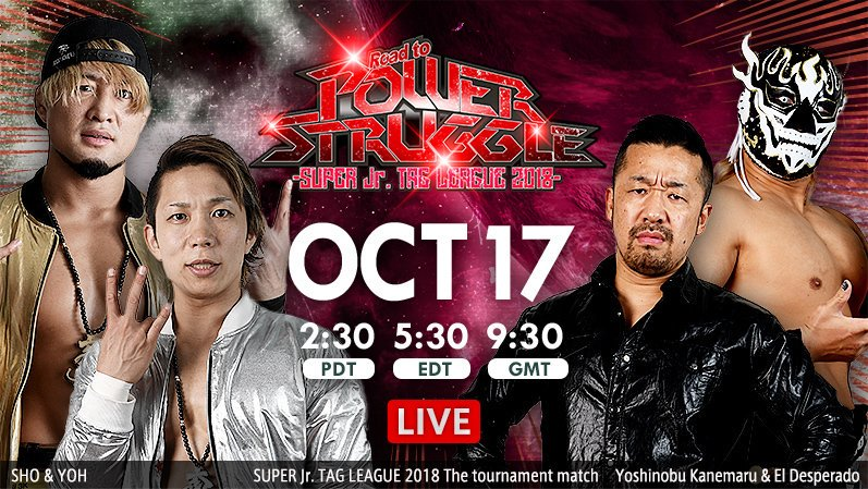 NJPW – Road To Power Struggle – October 17th, 2018 – Results