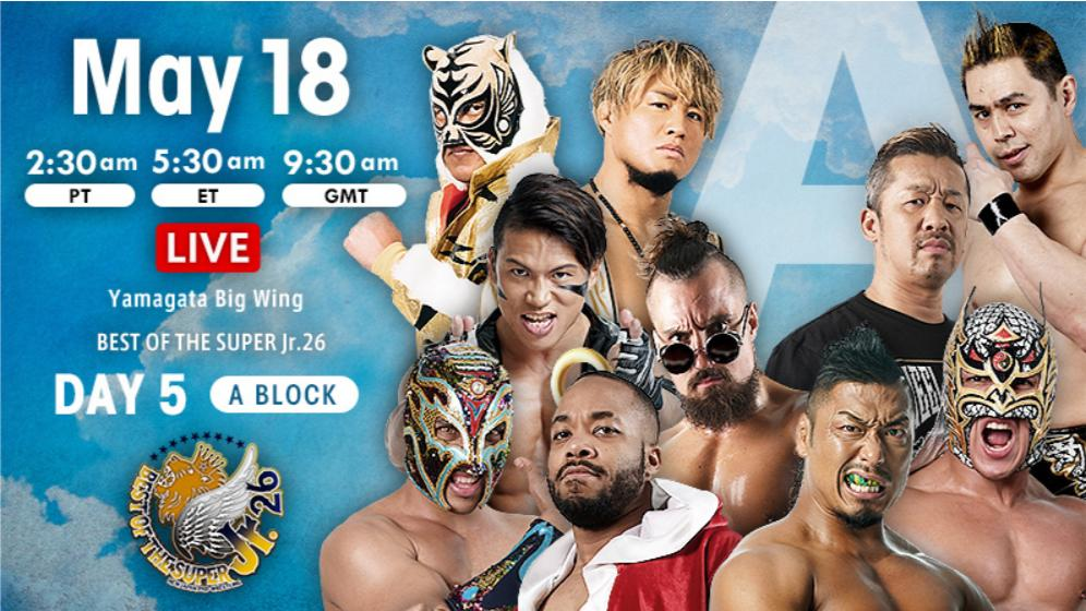 NJPW – Best of the Super Jr. 26, May 18, 2019 – Results