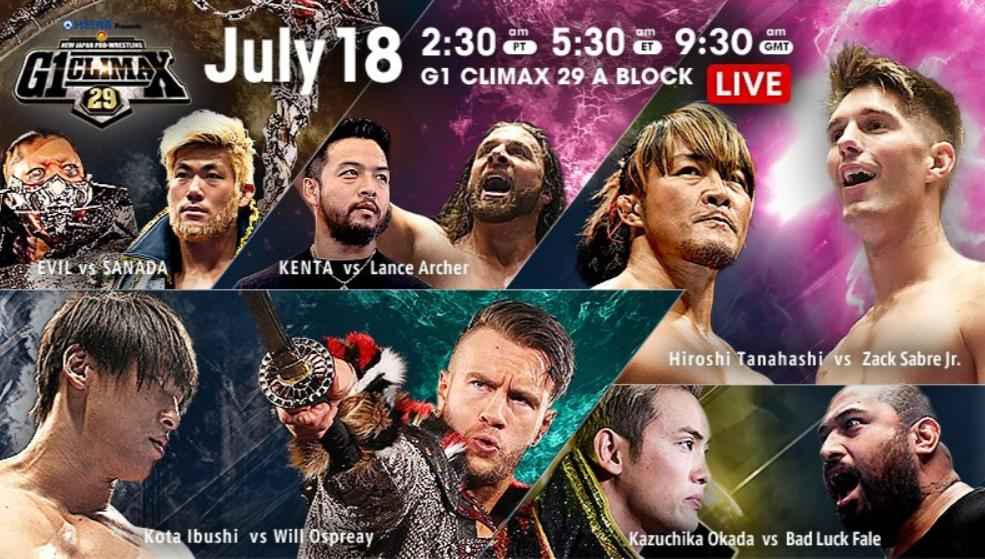 NJPW – G1 Climax 29, Night 5 – Results and Review