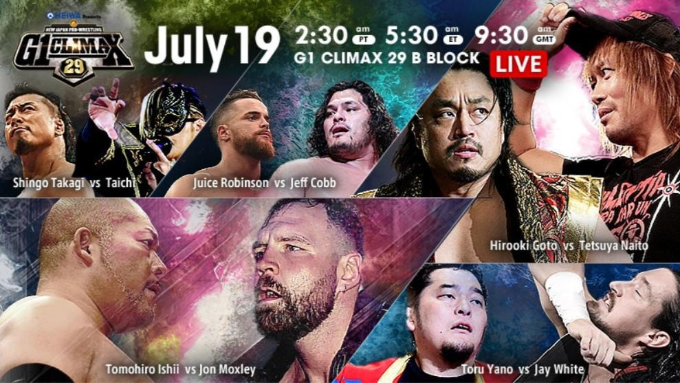 NJPW – G1 Climax 29, Night 6 – Results and Review
