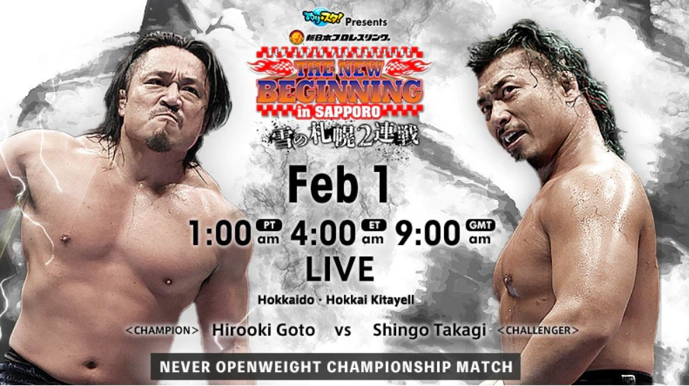 NJPW – The New Beginning In Sapporo, February 1, 2020 – Full Results and Review