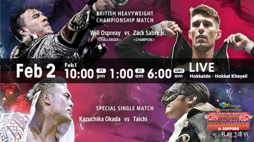 NJPW – The New Beginning in Sapporo, February 2, 2020 – Full Results and Review